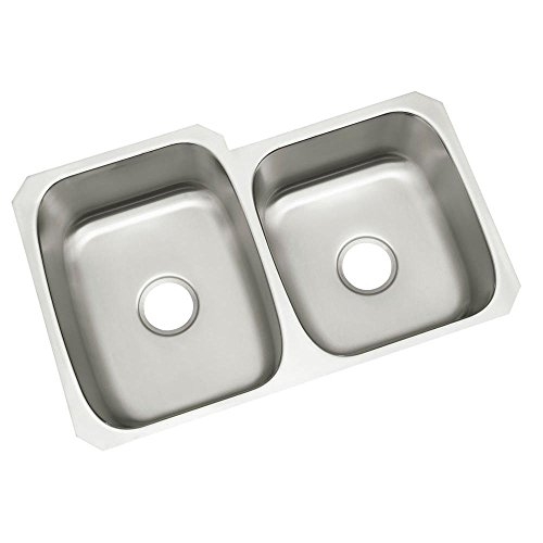 STERLING 11409-NA McAllister 31-3/4-inch by 20-3/4-inch Under-mount Large/Medium Double Bowl Kitchen Sink, Stainless Steel