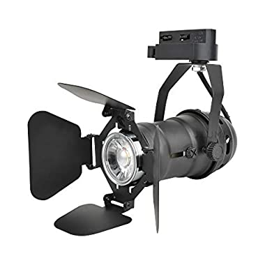 J.LUMI TRK9600 Compact Size Theater Track Light Heads with 5W LED Bulbs, Black