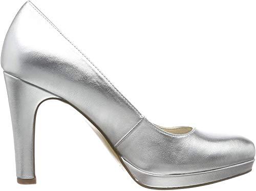 Tamaris Damen 1-1-22426-23 Plateaupumps, Silber (Silver 941), 38 EU