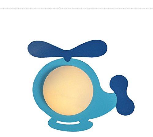 JJZHG wandlamp wandlamp waterdichte wandverlichting kinderkamer wandlamp melkglas tuin studie creatieve slaapkamer nacht oog blauw 36 * 33 cm bevat: wandlamp, stoere wandlampen