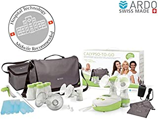 Ardo - Calypso-To-Go Double Electric Breast Pump, ultra-silent hospital-technology pump, with  messenger bag and many accessories, plug-in adapter and battery operated, Swiss Made