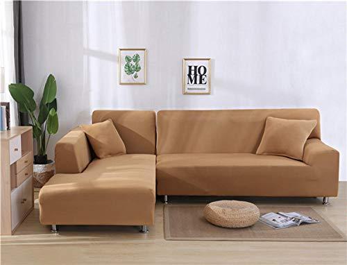 Funda de sofá de diseño creativo,Funda elástica para sofá, funda para sofá de sala de estar, funda para asiento de sofá, funda para sofá de esquina, funda protectora para muebles-Camel_190-230cm