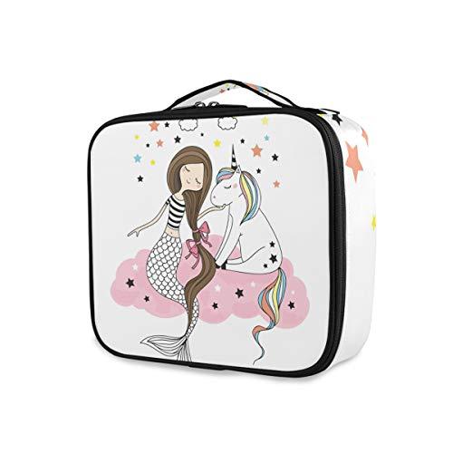 Tools, toilettas, regenboog, eenhoorn, zeemeermin, in roze, cloud sterren, draagbaar make-up tas, portefeuille, toilettas, opslag