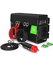 Green Cell® 300W/600W Zuivere sinusgolf Omvormer 12V naar 230V Spanningsomvormer Stroomomvormer Power Inverter voor auto, directe aansluiting op de autobatterij, stekker van de sigarettenaansteker