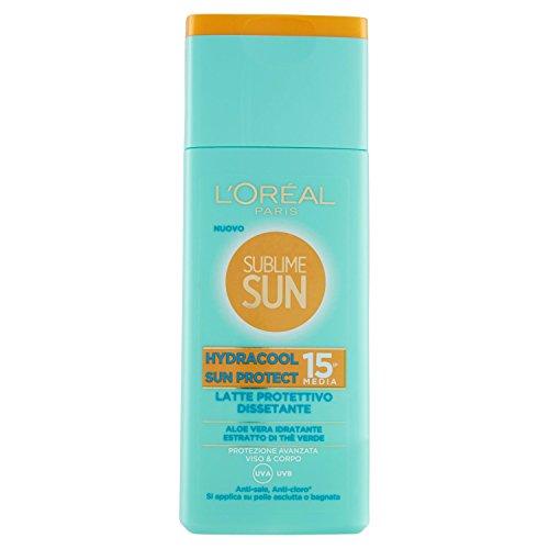 L'Oréal Paris Crema Solare Sublime Sun, Hydracool Sun Protect, Protezione Solare Media...