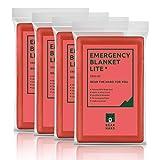 Bearhard - Coperta di emergenza per campeggio, escursionismo o soccorso, 4 pezzi, coperta ...