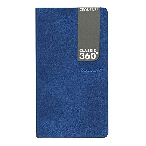 Zequenz Galaxy 360 Notizbuch B6 Slim 10x17,8 cm Blau Kariert