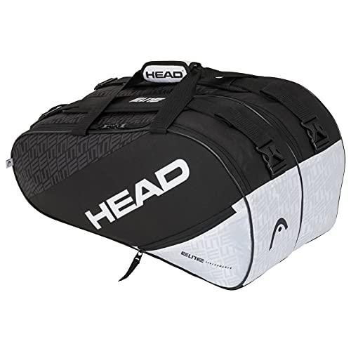 Head Elite Supercombi Bolsa Tenis, Unisex-Adult, Negro/Blanco, Largo-6 Palas de Padel