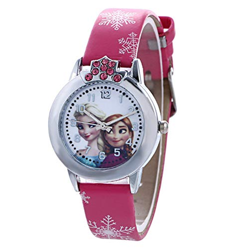 Kinderen kijken xydbb prinses kind cartoon anna kristal prinses kinderen kijken voor student klok horloges 148 * 11 * 27mm elsa roos