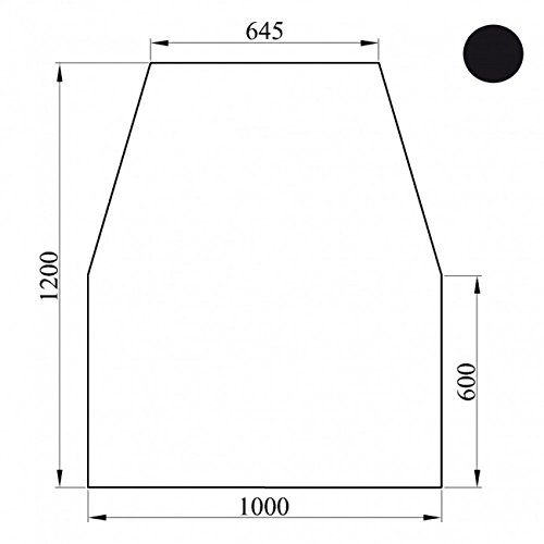 Kaminoflam Funkenschutzplatte Metall 6-eckig - Kaminplatte Schwarz - Kaminbodenplatte Stahl - Bodenplatte als Funkenschutz am Kamin - Bodenblech für den Ofen