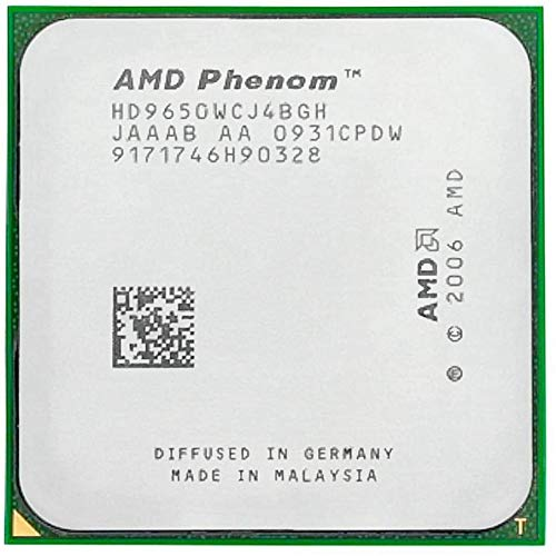 AMD Phenom X4 9650 - Procesador de CPU de núcleo cuádruple (2,3 GHz, 2 MB, HD9650WCJ4BGH, zócalo AM2+)