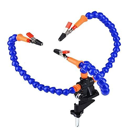 Flexible helfende Hände 3 Arme Dritte Hand Löthilfe Lötstation Werkzeug mit Krokodilklemmen zum Reparieren von Lötbaugruppen