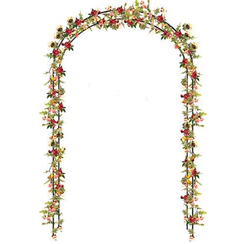 Buyi-World Arco para Trepadoras Arco de Jardín/Bodas/Fiestas para Rosas Subiendo Las Plantas, Decoración Muebles Puerta de Flores Rosas Trepadoras 140 × 38 × 240 cm