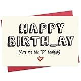 Birthday Card for Him | Naughty Happy Birthday Card for Boyfriend, Husband, Fiance | Funny Rude Card