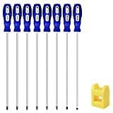 """IEBUOBO 8-Piece Extra Long Torx and Slotted Phillips Screwdriver Set, length 12-inch T10-T30, plus Long star Screwdrivers, PH2 12"""" Long Cross-head & Flat Blade Screwdriver"""