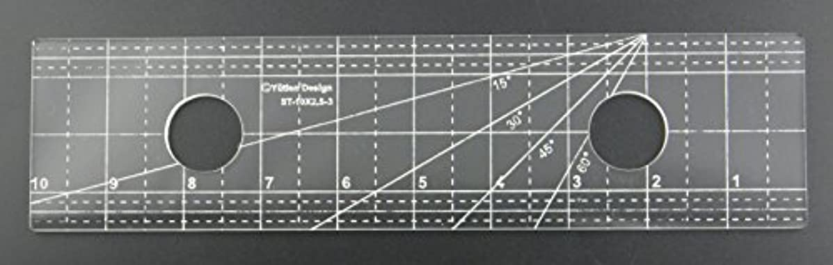 DREAMSTITCH 3mm Acrylic Patchwork Patchwork Quilting Template Ruler Straight Lines for Domestic (Household) Sewing Machines and for Free Motion 1/4