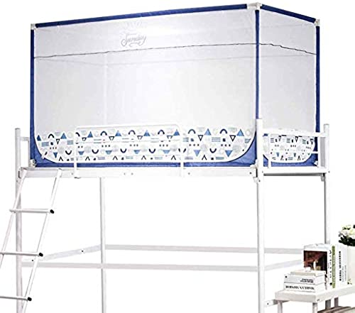ZTMN Moskitonetze Blau Für Einzelbett, Insektennetz aus Polyester, 3-türig, Etagenbett mit Einzelbett (Größe  1,9 m (H) \u0026 Times; 0,9 m (B) \u0026 Times; 0,9 (H))