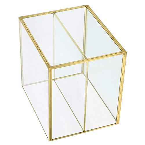 Fdit Boîte de Rangement, boîte de Rangement de Bureau, Organisateur de cosmétiques élégant, avec 2 Compartiments Multifonction 6.0x6.2x5.0in pour Jouets cosmétiques