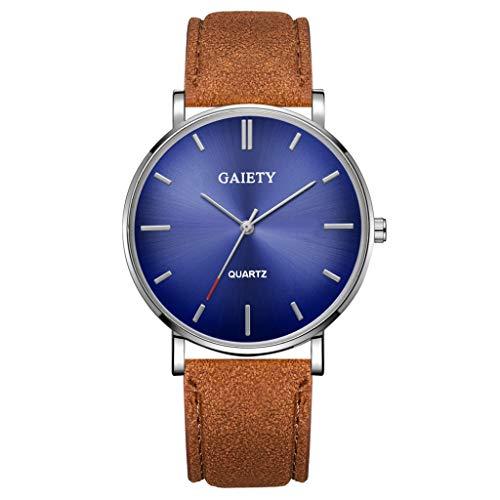 Analog Quarz ultradünn Classic Minimalistisches Design Armbanduhr für Herren, Skxinn Herrenuhren,Männer Business Fashion Einfach Armbanduhren mit Kunstlederband, Ausverkauf(C)