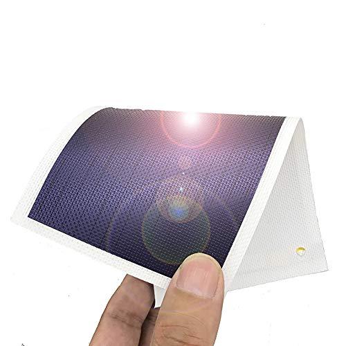 Pequeño Panel Solar Flexible Panel Solar Panel Solar de Película Delgada Panel Solar 1W / 1.5V / 670mA Cargador de Batería Solar (blanco)
