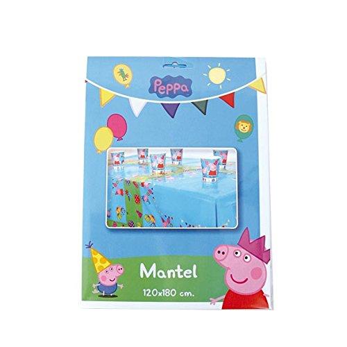 Pig-33800 Peppa Pig, Mantel (Plástico), Multicolor, 120 x 180 cm (Verbetena 016000724)