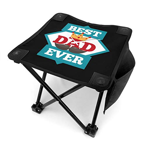 Best. Dad. Ever Small Camping Stool, Fishing Travel Outdoor Folding Stool, Portable Stool for Camping Walking Hunting Hiking Picnic Garden BBQ