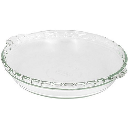 Pyrex Bakeware - Plataforma de pie Scalloped (9-1/2'), transparente