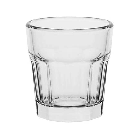 AmazonCommercial Bar Shot Glass, - Set of 6, Clear, 1.8 oz