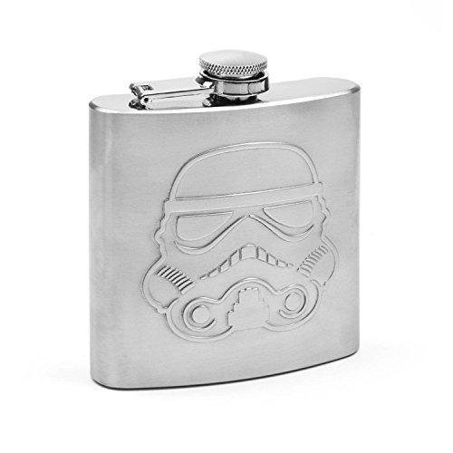Thumbs Up ThumbsUp Original Stormtrooper-Flachmann Hip Flask, Silber, 15,2cmx13,7cmx4cm