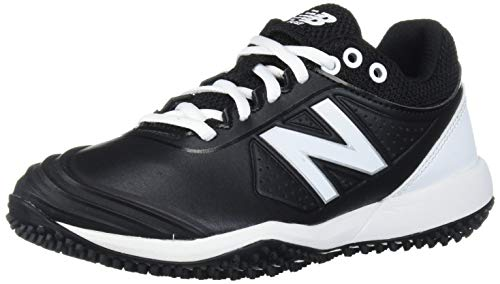 New Balance Women's Fuse V2 Turf Softball Shoe, Black/White, 9 M US