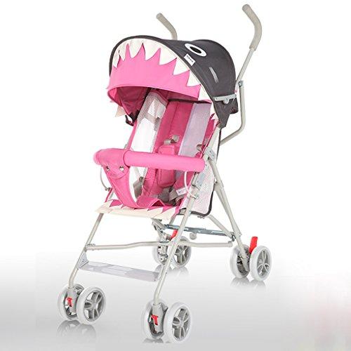 &Carrito de bebé Cochecito de bebé ligero plegable simple paraguas BB carro puede sentarse puede mentir niños cochecito fácil de llevar verano (Color : 5#)
