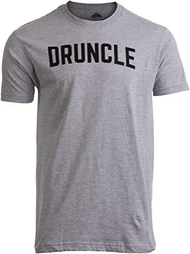 DRUNCLE | Funny Uncle Beer Drinker Drinking Joke Family Humor Funcle Men T-Shirt-(Adult,L) Sport Grey