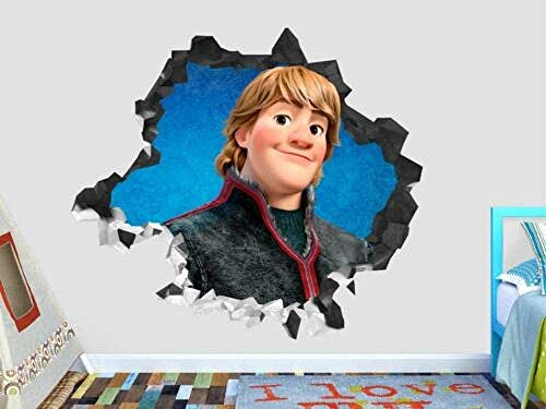SHUBING 3D wall stickers frozen show face wall decal decoration crushed kids 3D stickers