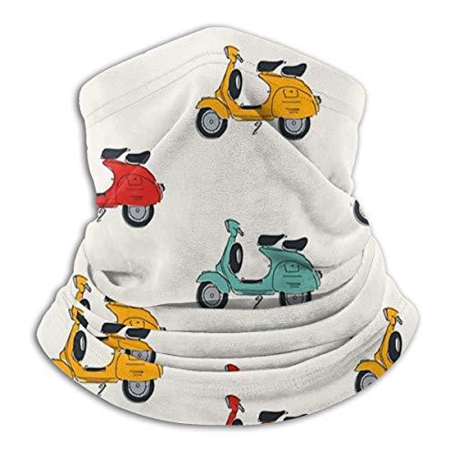 Vespa - Pasamontañas unisex resistente al viento para el cuello, pasamontañas, transpirable, resistente al viento, calentador facial para acampar al aire libre, motocicleta y correr