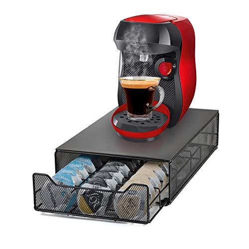 HiveNets Tassimo Kaffee Kapselhalter für 60 Kapseln Kapselständer Schubladen Organiser