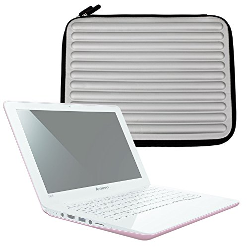 DURAGADGET Shock & Water-Resistant Memory Foam Laptop Case in Silver - Suitable for Lenovo IdeaPad S206 11.6 inch Laptop|Lenovo ThinkPad X220|Lenovo ThinkPad X220i|Lenovo IdeaPad U260