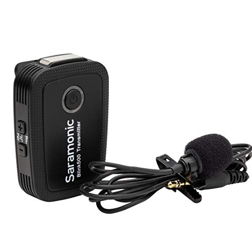 Saramonic 2.4 GHz Wireless Clip-On Transmitter w/Built-in Microphone & Lav for Blink 500 Receivers (BLINK500TX)
