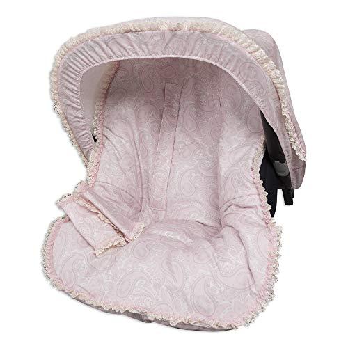 Babyline Colchoneta Grupo 0 Con Capota Y Cubre Arnés Sweetly Rosa - Colchoneta para silla de paseo, niñas