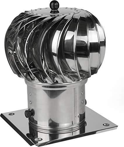 Schornsteinaufsatz Kaminaufsatz säurebeständiger Edelstahl Lüftung drehbarer Kugelaufsatz Lüftungsaufsatz Ofen Kamin Turbo (⌀150mm)