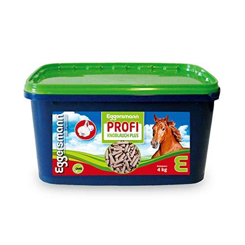 Eggersmann Profi Knoblauch Plus – Ergänzungsfuttermittel für Pferde – Gegen Fliegen, Bremsen und Stechmücken, 4 kg Eimer