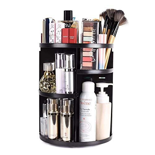 Organizador de Maquillaje, Vagalbox Organizador Giratorio de Tocador y Caja de Almacenamiento,…