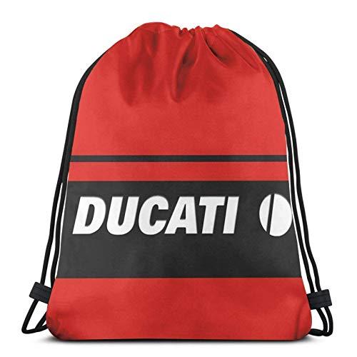 LREFON Ducati Carbon Sport Sackpack Mochila con cordón Bolsa de Gimnasio Saco