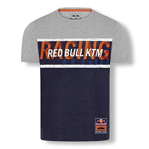 Red Bull KTM Letra T-Hemd, Gris Herren XX-Large T Shirt, KTM Racing Team Original Bekleidung & Merchandise