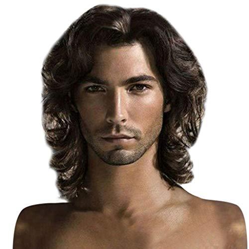 UJUNAOR Afrikanische Stil Männer Mode Coole Europäische Natürliche Haarschokoladenfarbe Perücke...