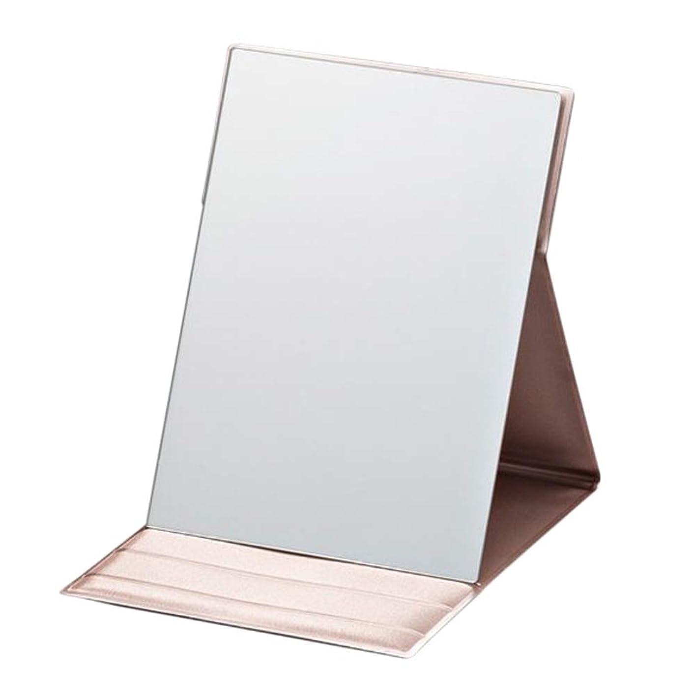 放散する変装したウールプロモデル折立 M ピンクゴールド 折り畳み式化粧鏡