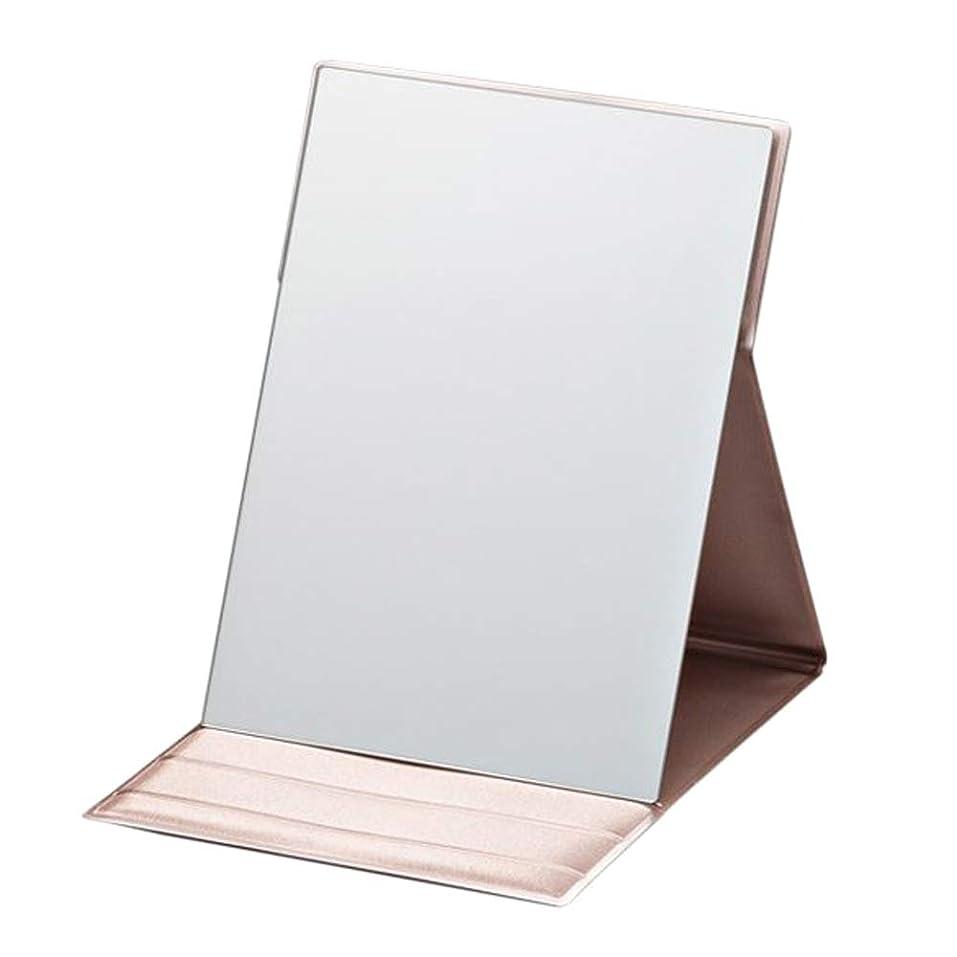 めまいが弾丸迷彩プロモデル折立 M ピンクゴールド 折り畳み式化粧鏡