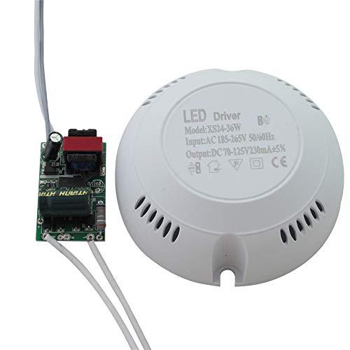 SUNERLORY LED Driver Accesorios Downlights Lámpara Interior Protección múltiple Fuente alimentación Redonda Alta eficiencia Seguro Estable Transformar Luz Techo Corriente Constante(24-36W)