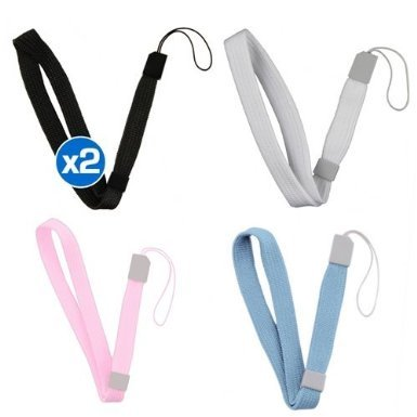 Importer520 Wrist Strap Premium Combo Compatible with Nintendo Wii, incldue Black / White / Light Blue / Pink