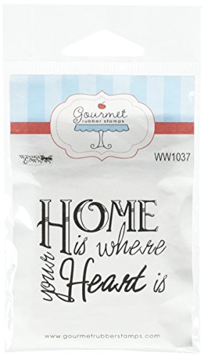 Gourmet Rubber Stamps Home is Where Your Heart is Cling Stamps, 2.75 by 4.75""