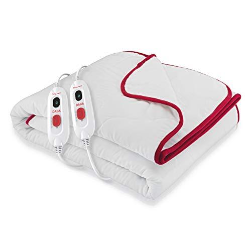 Daga Flexy-Heat CMN Comfort - Calientacamas, 150 x 130cm, Conexión Separable, 2 Controladores de Temperatura, 3 Niveles de Temperatura, Autostop de Seguridad, Calentamiento Rápido